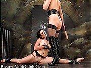 Girl in bondage.