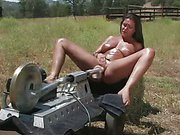 Outdoor fucking machine