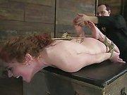 Pretty redhead bound