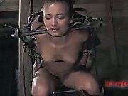 Caged slut humiliated