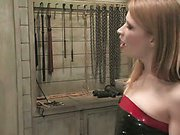 Slaveboy locked in cage