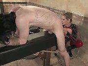 Mistress flogs her slaveboy