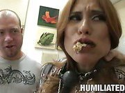 MILF gagged and fucked