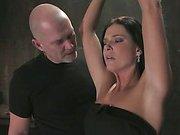 Forced orgasms for brunette