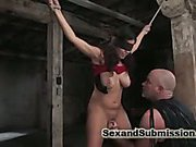 Blindfolds and breast bondage