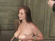 Busty slave is trained