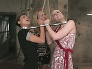 Two slavegirls chained