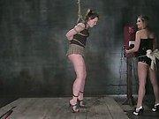 Mistress uses cattle prod