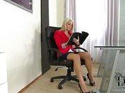 Lady boss humiliates a boy