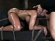 Sybian, brutal skull fucking turns Kelly Divine into a