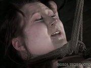 Pricked lesbo slave