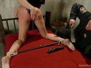 Sexy MILF in rough bondage sex