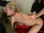 Sexy MILF in rough bondage sex