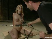 Beautiful Pretty Piece in extreme bondage rough sex