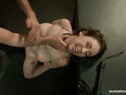 Slave Girl takes rough bondage sex