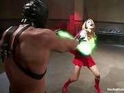 Your favorite superheroines defeated restrained