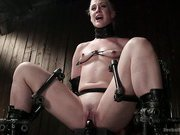 Hot blonde is bound in extreme devices