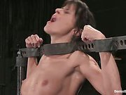 Hot French girl is bound