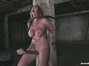 Christina Carter in steel bondage