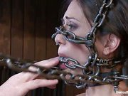 Sexy slut is immobilized