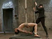 Extreme bondage and strap on fucking-live