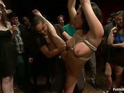 Big a-hole latin chick fastened and screwed at Party