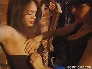 Slave worships mistresses