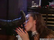 Boot licking slave