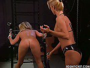 Girl bottom flogging