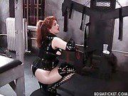Slave gets ass-flogged