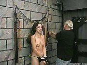 Flogging her skin