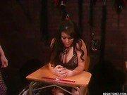 Mistress training hard