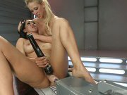 Incredible snatch Battle Royal with Machines-Isis Love &