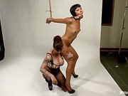 Mz. Berlin Clamps, Whips, and Double Stuffs Newbie Vivi