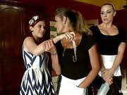 Trust Fund Brat BOUND, DP'd and FACE screwed by hawt Maids