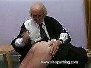 OTK thrashing on blonde's pert little bottom