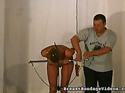Squirming During Tit Torture