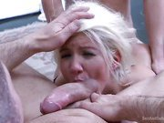 Submissive Secretary Does Double Penetration Duty