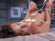 Big-Assed, Bombshell, Gets Tied-Up, and Robotically Blasted
