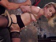 Anal Slut Trained in Hard Bondage: Alina West Day Two