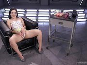 Sex Crazed Slut Gets Machine Fucked and Tied Up