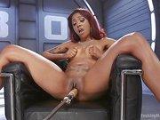 Ebony Squirt Slut Soaks Fucking Machines with Her Cum Love