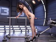 Flexible 19 Year Old Gets Machine Fucked