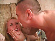 Crazy incest of a cute teenager
