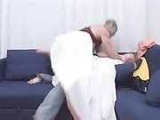 Blonde raped in a dirty style