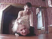 Petite blonde raped by a brother