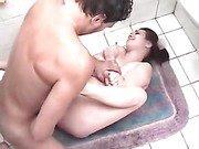 Tiny little teen raped on a bathroom floor