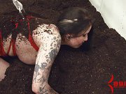 Goth girl Ophelia Rain assfucked in graveyard