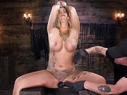 Tattooed Slut Is Tormented In Bondage