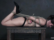 Isabel has a fantastic time getting her bondage on.